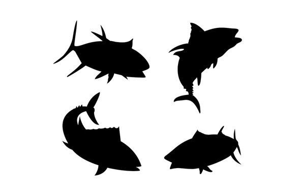 Yellow Fin Tuna Fish Silhouette ~ Illustrations ~ Creative ...