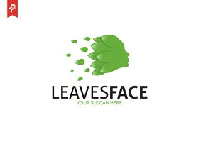 Leaves Face Logo