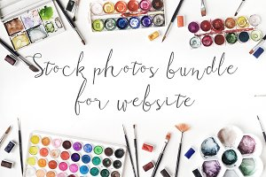 Stock photos bundle for website