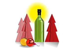 Wine Bottle Tree Baubles