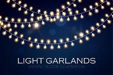 Light Garland Set. Eps,Ai,Jpg