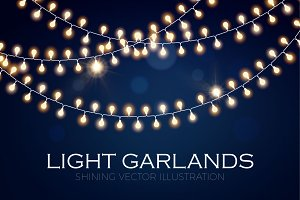Light Garland Set. Eps,Ai,Jpg