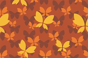 Vector pattern with butterfly.