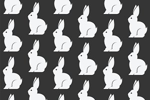 Rabbit vector art background design.