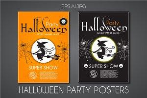 Halloween Poster Template.EPS,AI,JPG