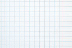 Exercise book paper