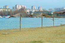 Sea coast with beach