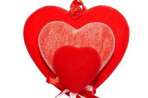 Big valentine hearts