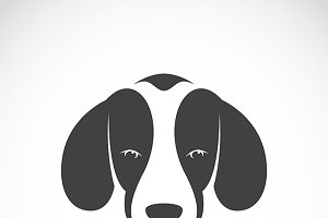 Vector image of a dog beagle.