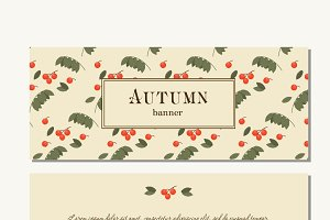 flat Autumn web banner