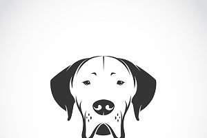 Vector image of dog head.