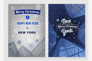 City Christmas Postcard