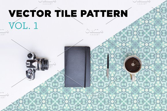 Vector Tile Pattern - Vol. 1 - Patterns
