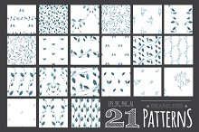 21 Watercolor Seamless Patterns.