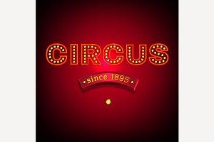 Vector Circus Banner