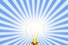 Lighting bulb idea icon