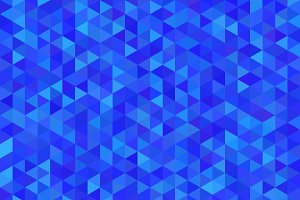 Bright blue triangles pattern