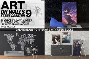 Canvas Mockups - Frames Mockups v 9
