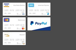 Flat / Minimalist Payment Cards.
