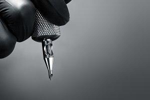 tattoo machine closeup