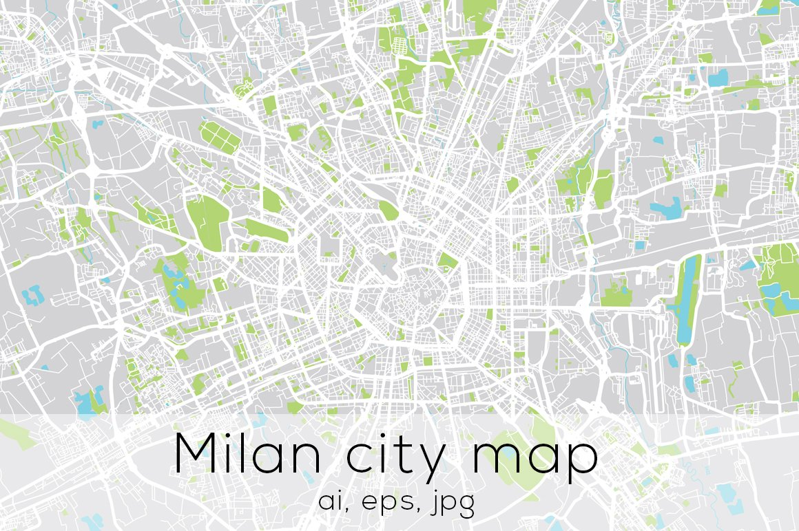 milan city map illustrations creative market