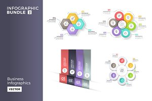 Business infographics bundle 2