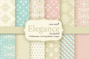 12 elegant pattern and 6 frames