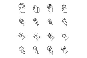 Mouse pointer icons set