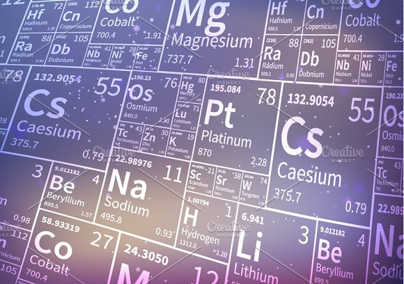 Chemical elements icons