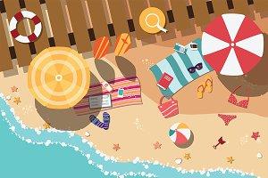 Beach - Flat Design