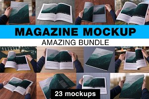Magazine Mockups Amazing Bundle
