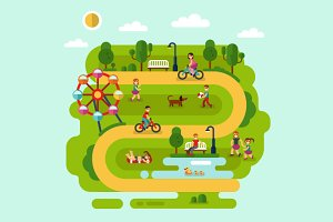 Park Vector Illustration
