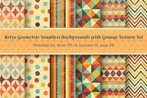 Retro Geometric Seamless Backgrounds