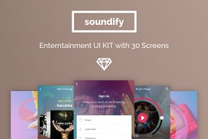 Soundify Music App UI Kit
