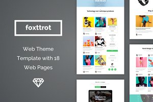 Foxttrot Web Theme Template