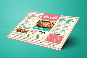 Retro Picnic Cardboard Food Menu