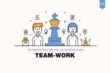 Modern team work pack