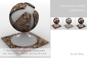 7 Luxurious Wooden materials