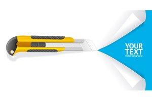 Knife Cut Paper. Vector