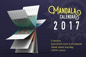Mandala Desk Calendar 2017