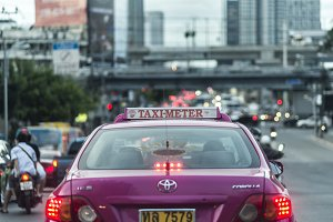 Taxi and traffic in Bangkok