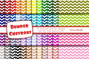 48 Chevron Digital Paper 12 x 12