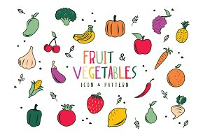 Fruit & Vegetables Seamless Pattern