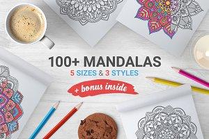 100+ Mandalas+Bonus Frames