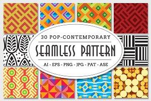 Pop-Contemporary Seamless Pattern