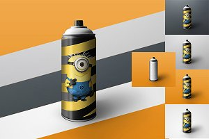 Spray Can Mock-up tin of paint