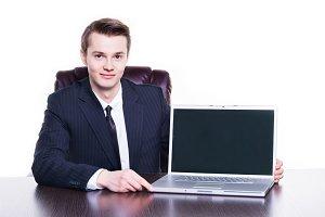 businessman presenting his startup