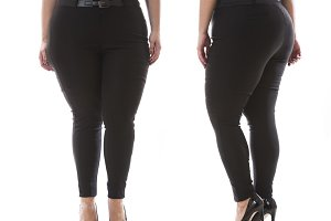 Plus size model classic pants