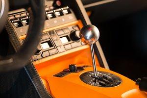 sport car 6 speed manual gearstick