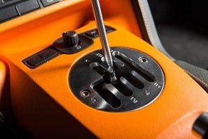 manual gearsift car transmission